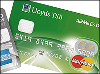 Lloyds TSB Airmiles Mastercard and Airmiles Duo American Express card