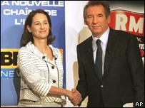 Ségolène Royal (iz.) y François Bayrou