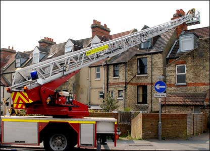 Firefighters make safe chimney stack in Folkestone