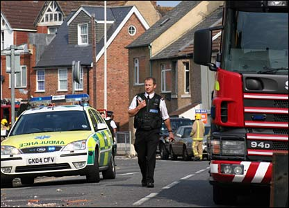 Effect of quake in Folkestone