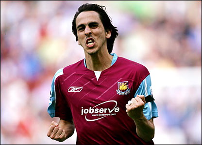 Yossi Benayoun celebrates his goal at the JJB stadium