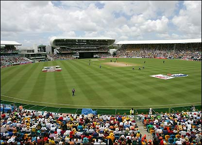 A large crowd enjoys the action in Barbados