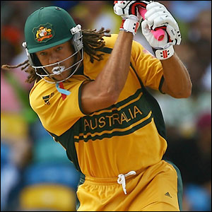 Andrew Symonds finishes on 23 not out