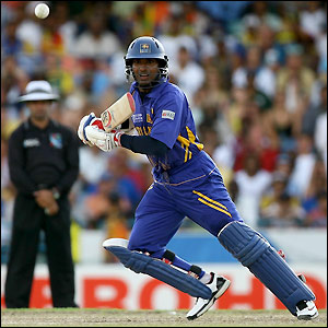 Sangakkara enjoys a fine innings of 54