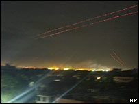 Anti-aircraft gunfire in Colombo on 29 April 2007