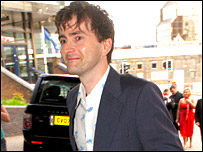 David Tennant arriving at the ceremony 
