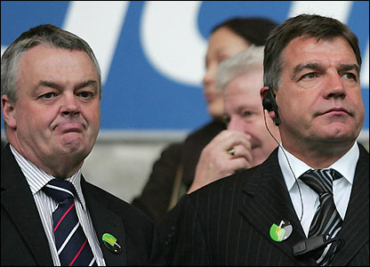 Sam Allardyce and chairman Phil Gartside