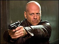 Bruce Willis in Die Hard 4.0, aka Live Free or Die Hard