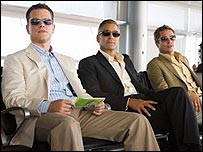 Matt Damon, George Clooney and Brad Pitt in Ocean's 13