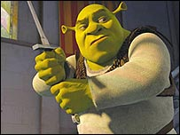 Shrek (voiced by Mike Myers) in Shrek the Third