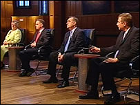 the four main party leaders