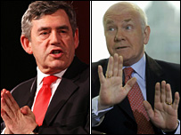Gordon Brown and John Reid