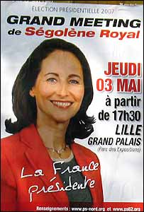 Campaign poster of Segolene Royal