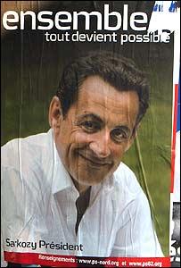 Campaign poster of Nicolas Sarkozy