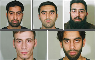 The five men who have been convicted