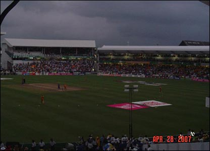Gloomy conditions at the World Cup final in Barbados