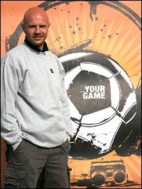 Danny Mills at the Your Game launch in Leeds