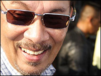 Anwar Ibrahim on the campaign trail