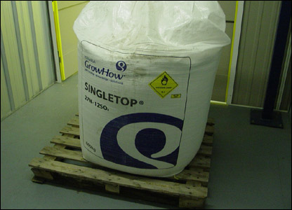 A large bag of fertiliser