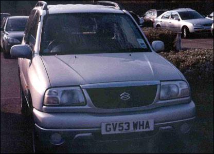 A silver Suzuki Vitara