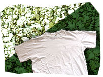 Cotton and white t-shirt