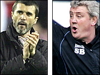 Sunderland boss Roy Keane (left) and and Birmingham's Steve Bruce