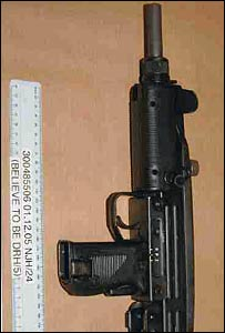 An Uzi sub-machine gun