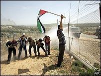 Demonstration against Israeli barrier in the West Bank