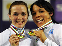 Victoria Pendleton and Shanaze Reade