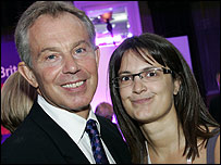 Jessica Watts and Tony Blair in 2006