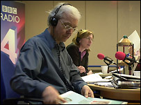 John Humphrys (l) in a BBC radio studio - file photo