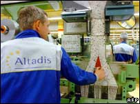 Worker at Altadis cigarette factory