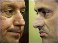 Rafael Benitez (left) and Jose Mourinho