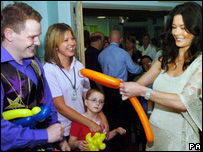 Catherine Zeta Jones at the opening of the hospital's first phase