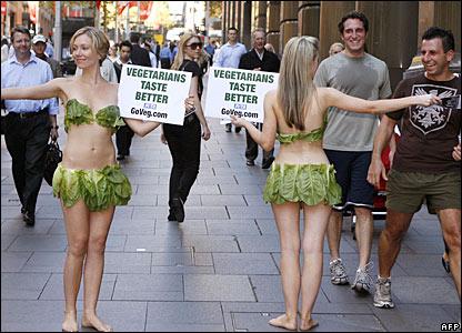 Peta protesters in Sydney, Australia