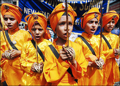 Sikh school children in Amritsar, India
