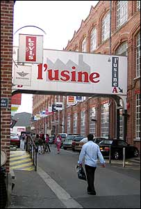 Entrance to L'Usine, Roubaix's biggest factory outlet complex