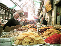 Food stall at Mahane Yehuda market