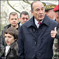Jacques Chirac and his grandson, Martin