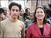 Thomas Hollande and Segolene Royal campaigning