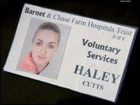 Hayley Cutts ID card