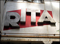 Original sign from the Rita waffle factory in Roubaix, now called Chez Rita