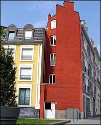 Brightly coloured houses In Roubaix