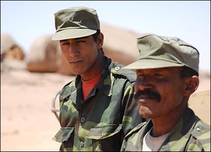 Polisario Front soldiers in Tifariti, Western Sahara (Copyright: Steve Franck)