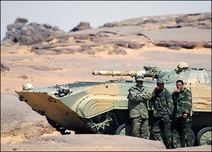 Polisario Front troops in Tifariti, Western Sahara (Copyright: Steve Franck)
