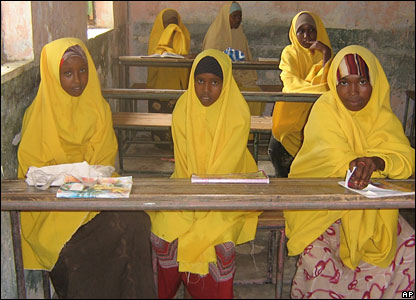 School girls in Mogadishu return to class