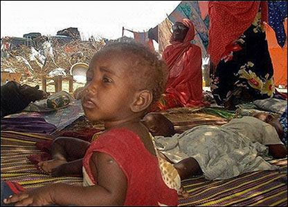 A displaced family in Lafoole area