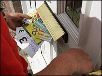 Political leaflets delivered to house in central Scotland