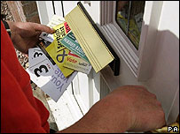 Political leaflets delivered to house in central Scotland