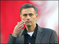 Jos� Mourinho sufri� la derrota.